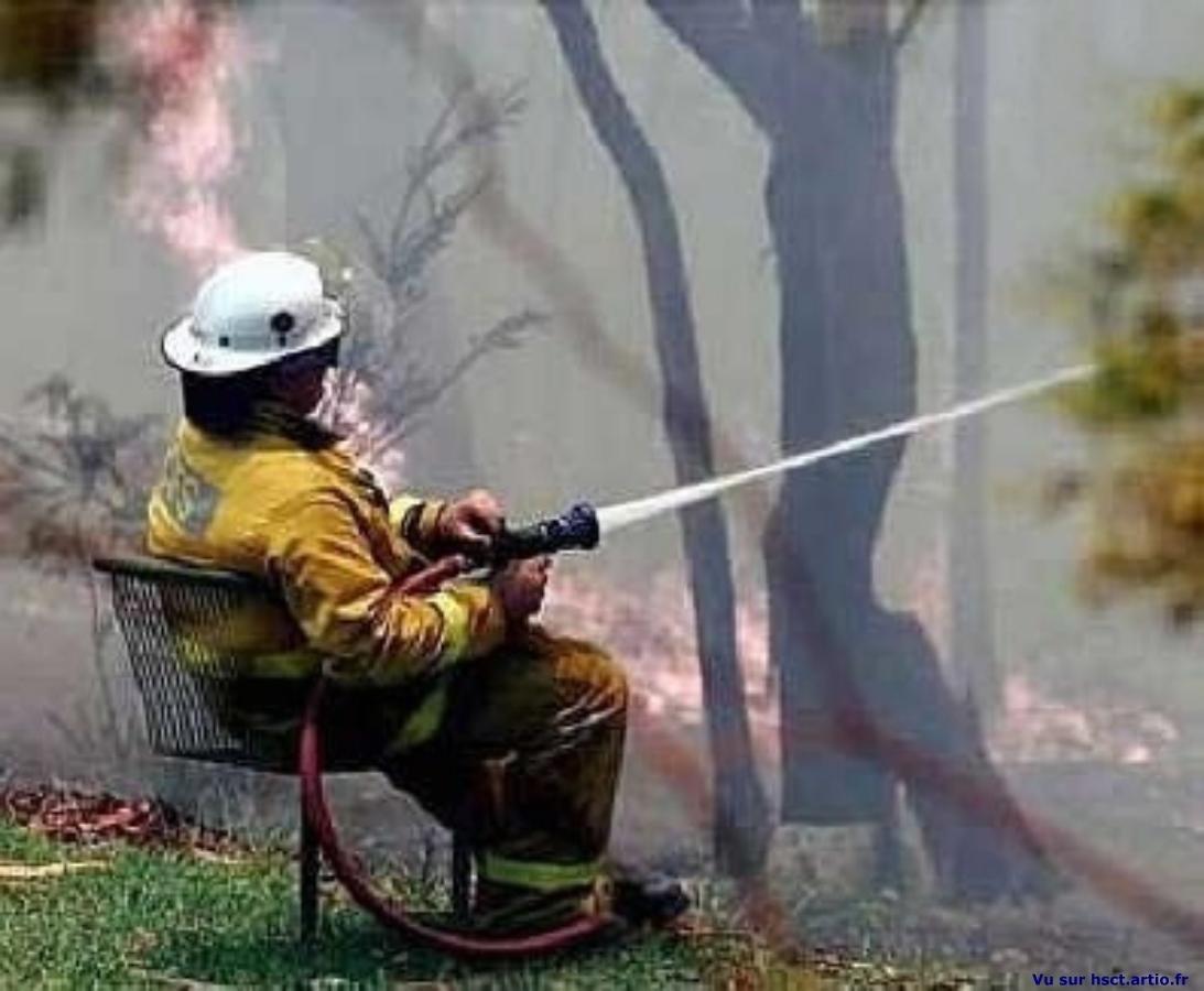 photo drole pompier